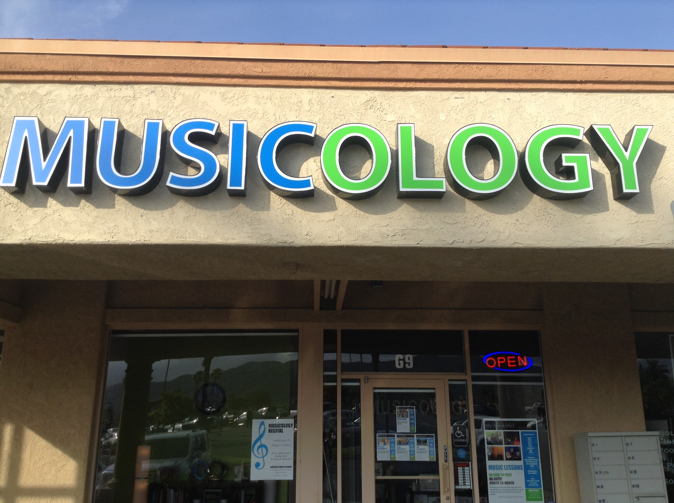 Musicology's is located in Temecula, CA